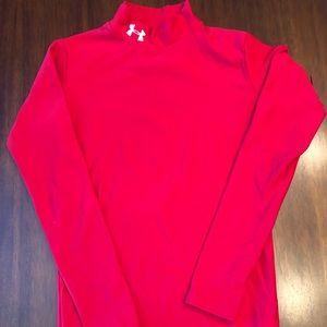 Red Under Armour Cold-gear shirt